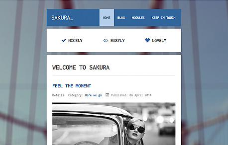Sakura - Blog Joomla Template